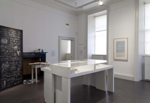 Works by Jennifer Brennan and Brian O'Doherty, and materials from Dorothy Walker archive, NIVAL.