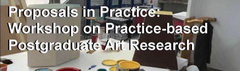 Proposals in Practice: Workshop on Practice-based Postgraduate Art Research,The Dock, Leitrim, 2-4pm, Saturday 13 June, 2015